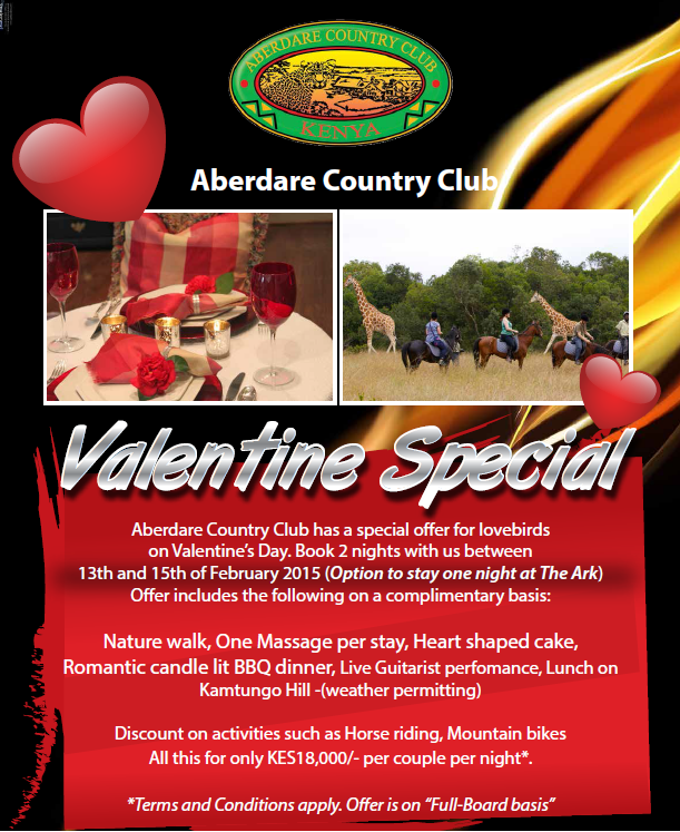 Valentine Offer at Mount Kenya Lodge